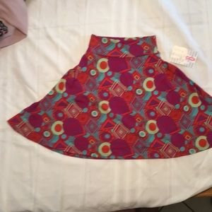 NWT LuLaRoe kids skirt azure size 6 purple green